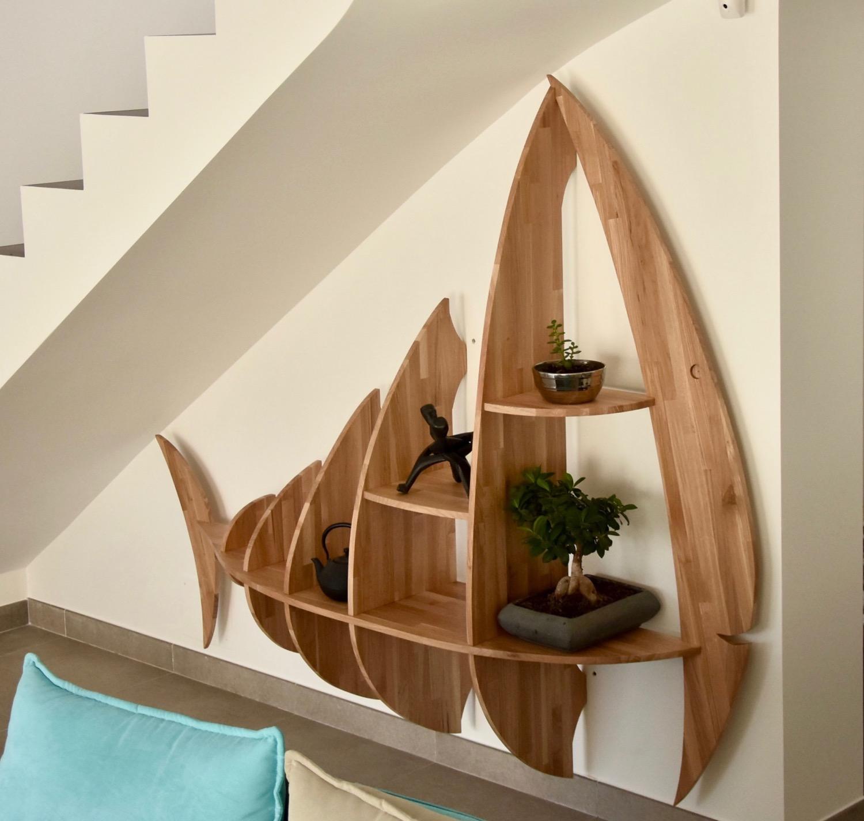 Etagere Murale En Escalier Étagère poisson sous escalier (sur devis uniquement) - simon