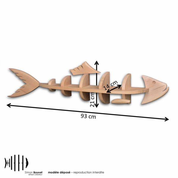dimensions étagère hareng, longueur, hauteur, profondeur en cm : 93 x 21 x 14